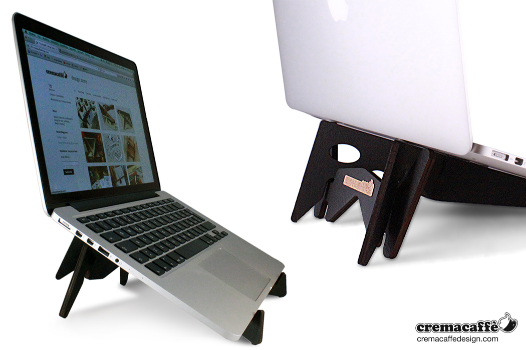 kolibri laptop and tablet stand cremacaff design store. Black Bedroom Furniture Sets. Home Design Ideas