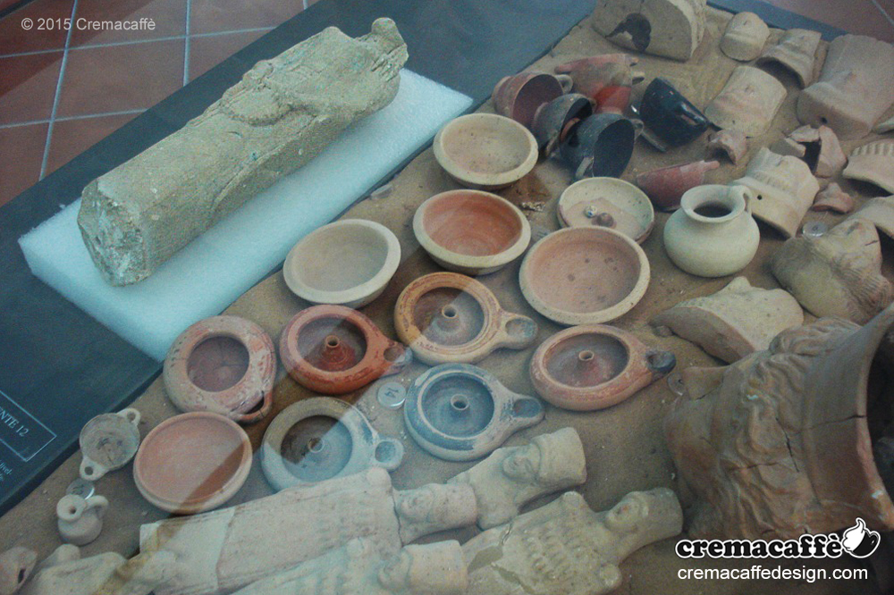 Cremacaffè Design and the Archeological Museum of the ancient Greek colony of Gela
