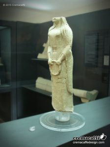 A 2600 years old Kore statue, on display at the Archeological Museum of the ancient Greek colony of Gela.