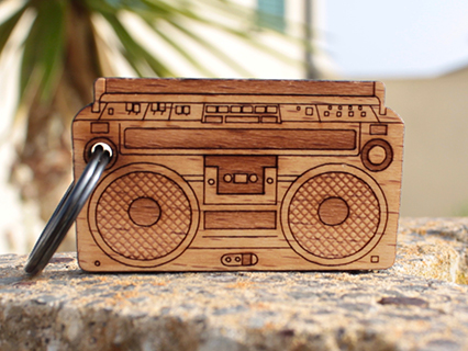 photo: Cremacaffè Design Ghettoblaster Keychain
