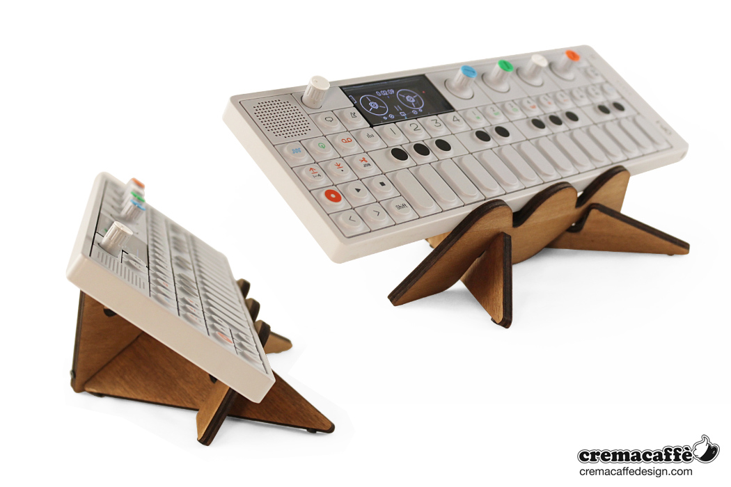photo: Cremacaffè Design HERO stand and OP-1 synth