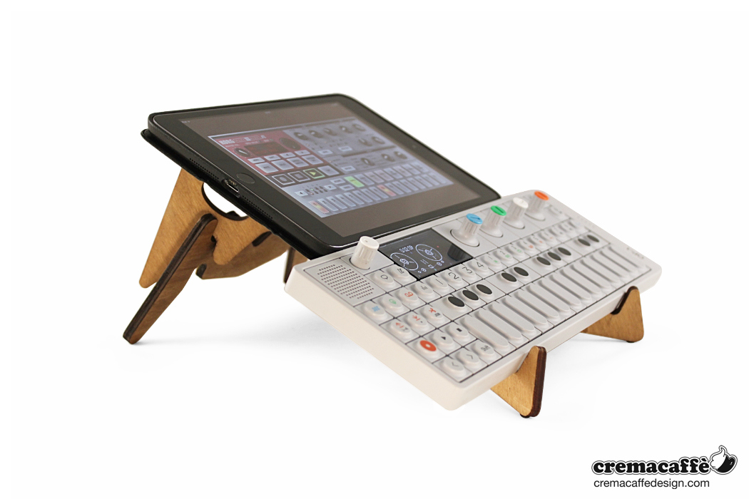 KOLIBRI stand holding TE OP-1 and iPAD mini