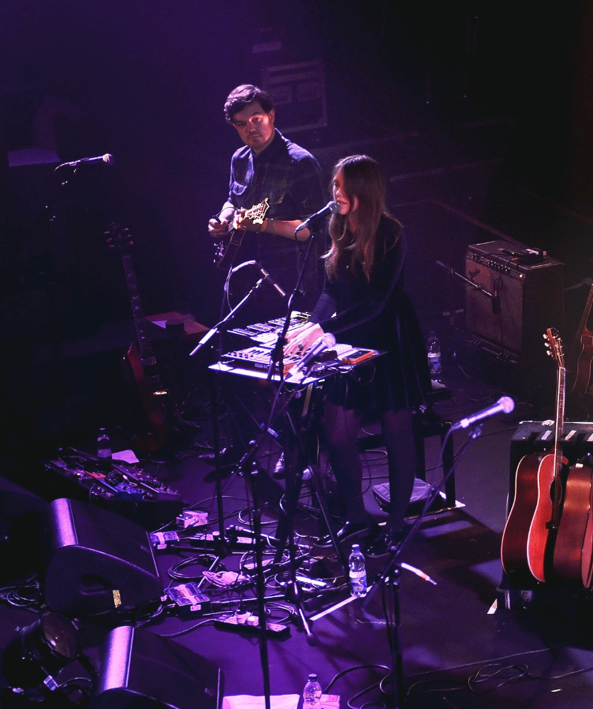 photo: Romy on stage for Gemma Hayes in Union Chapel, London. Photo by Eric Duvet