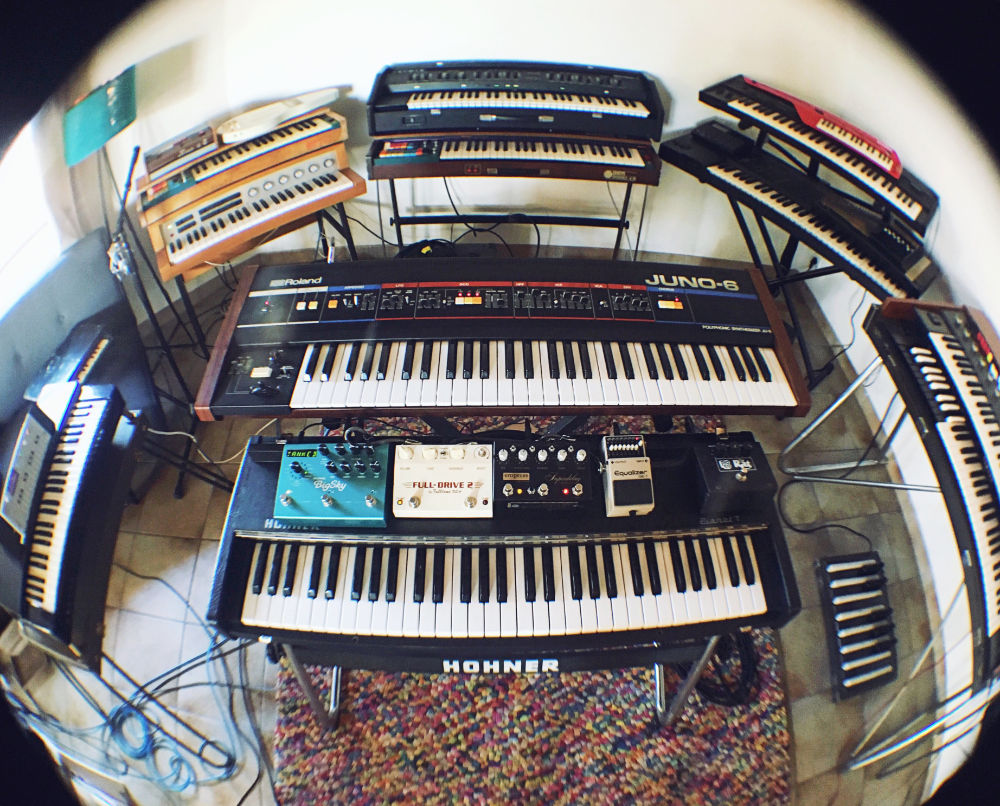 Photo: Romy's keyboards room | Photo by Romy