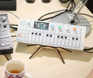 Detail of TE OP-1 synth & Cremacaffè HERO stand. | Photo: Tamara Özer.